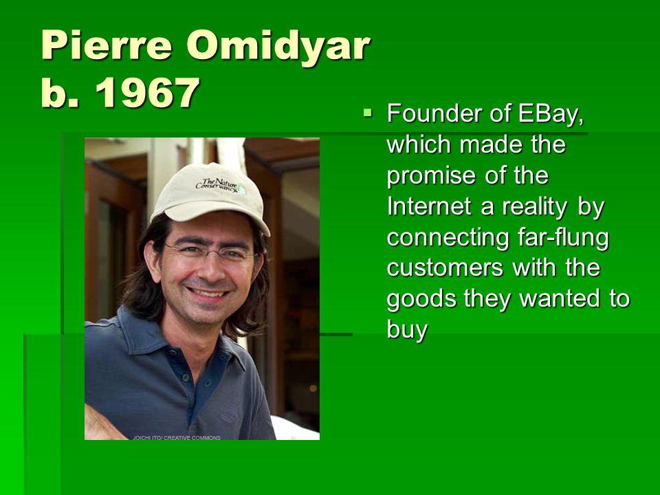 Pierre Omidyar b.