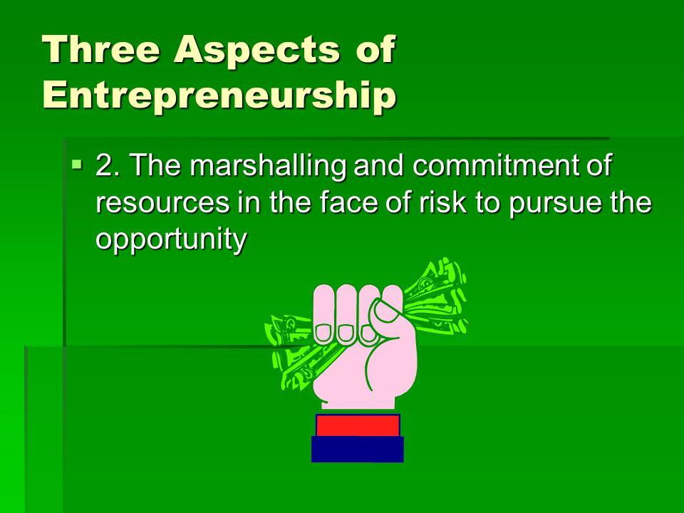 Three Aspects of Entrepreneurship  2.