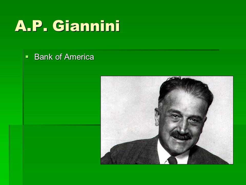 A.P. Giannini  Bank of America