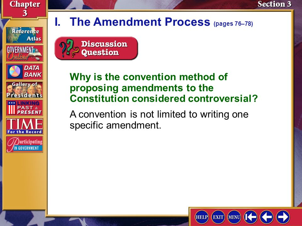 Section 3-5 A.Congress has passed laws that have changed or clarified many provisions of the Constitution.
