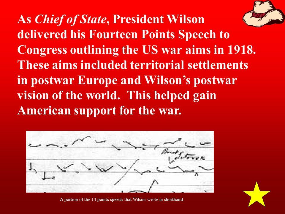 Wilson's Speech