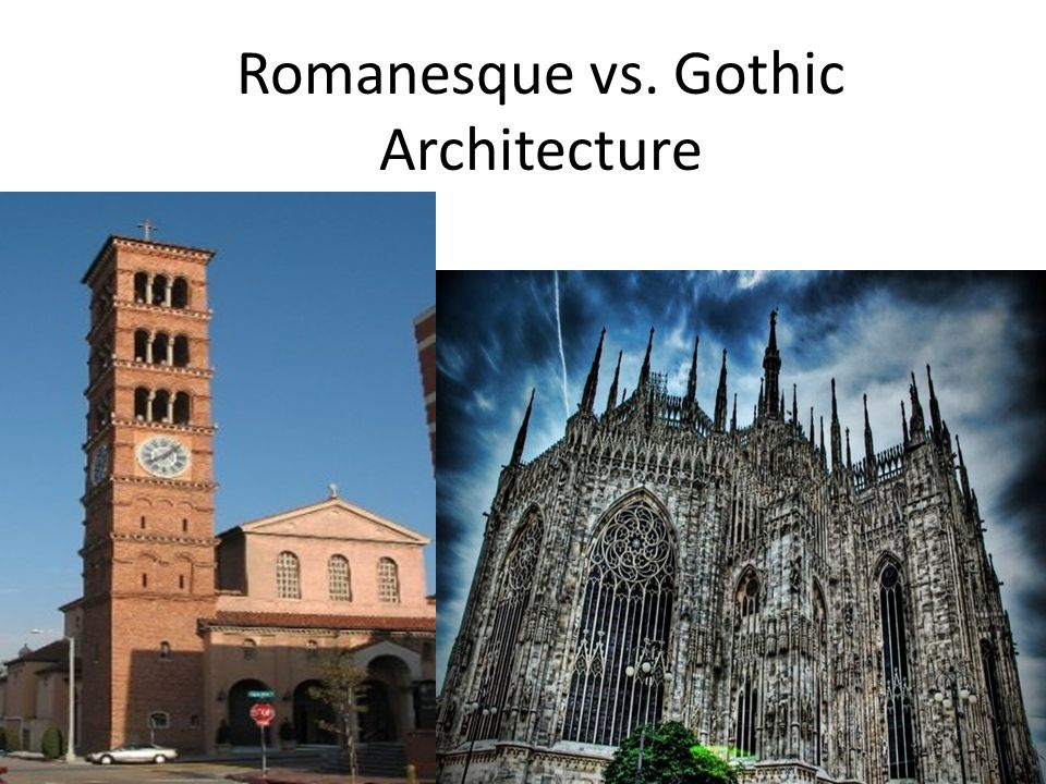 Directions As discussed in class, there are significant differences between Romanesque Churches and Gothic Churches.