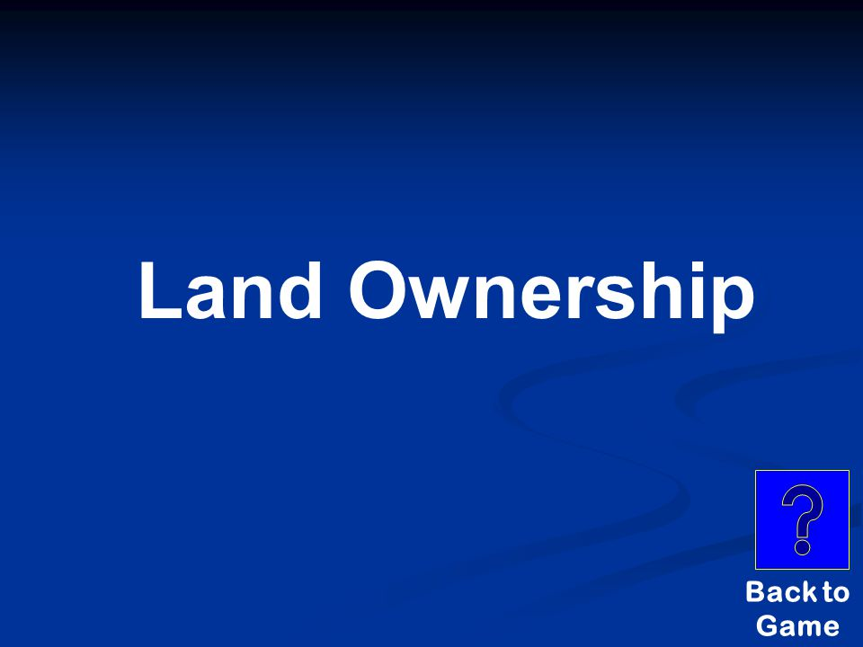 Land Ownership Back to Game
