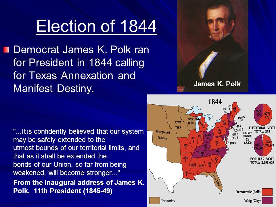 Election of 1844 Democrat James K.