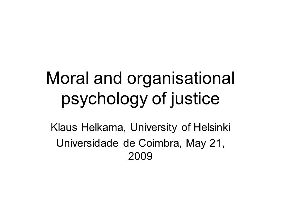 Development of moral judgment and use of procedural justice rules Kohlberg: 5 stages of moral judgment (mj) Design: Kohlberg Moral Judgment Interview (hypothetical dilemmas scored 100-500 (100= stage 1,…, 500=stage 5) + real-life dilemma(s) How do respondents at different stages of mj use procedural justice rules.