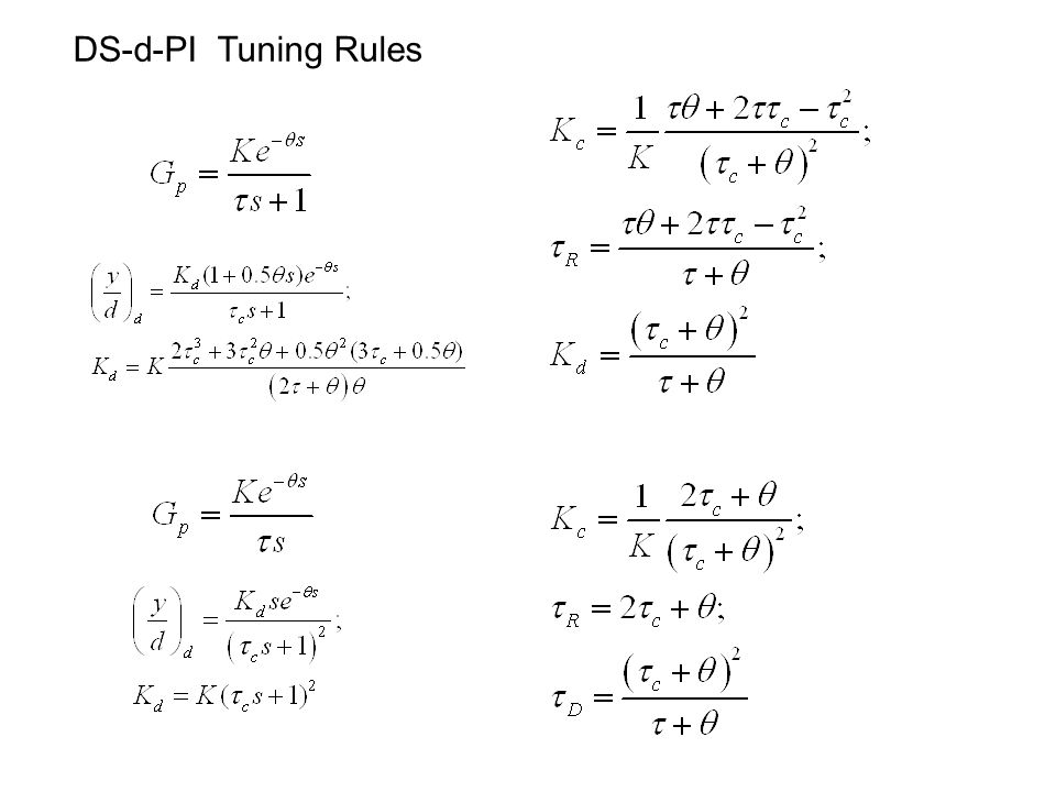 DS-d-PI Tuning Rules
