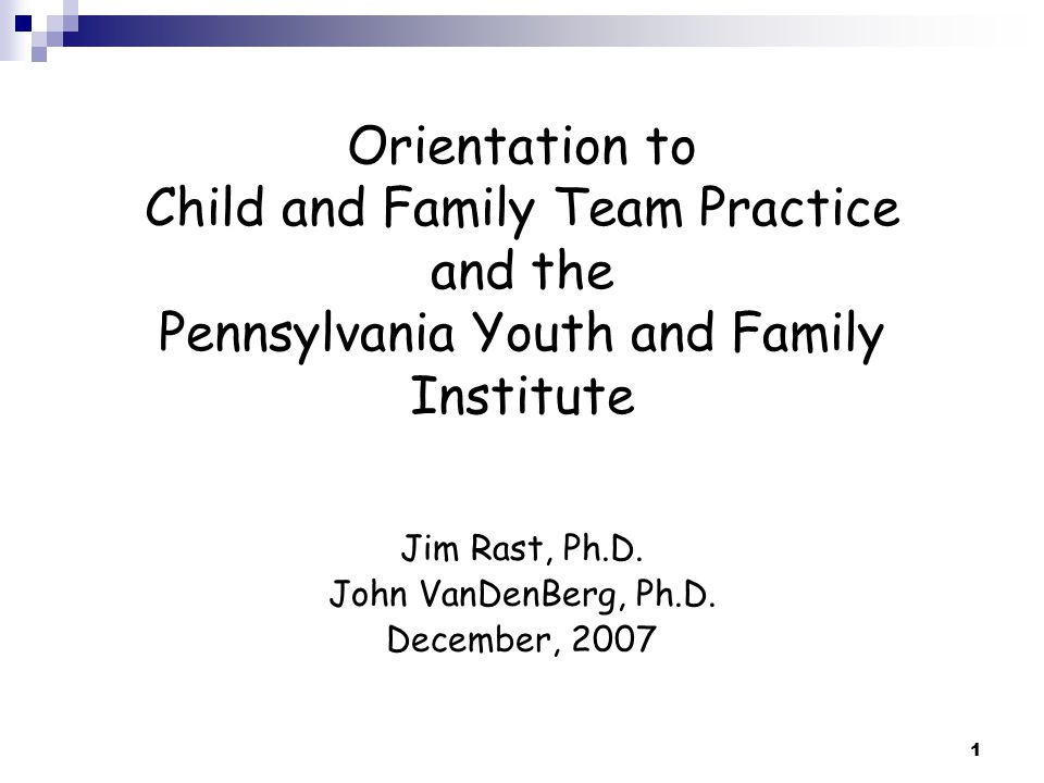 2 This Pennsylvania Effort… Pennsylvania has a long history of successful collaboration and programs to support children and their families.