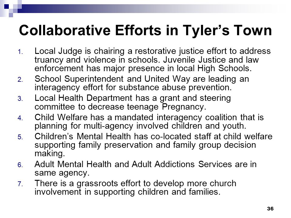 37 Your Collaboration Is your communities more, the same, or less collaborative than the Tyler's town?