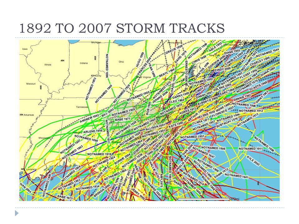 1892 TO 2007 STORM TRACKS