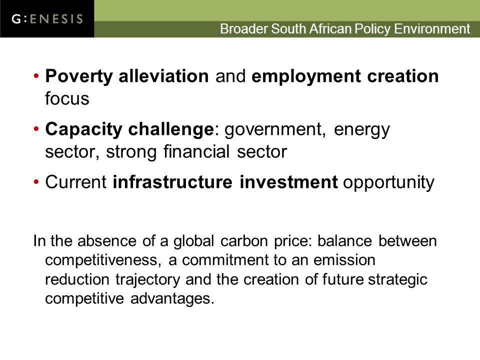 South African ETS: Emerging Considerations 1.