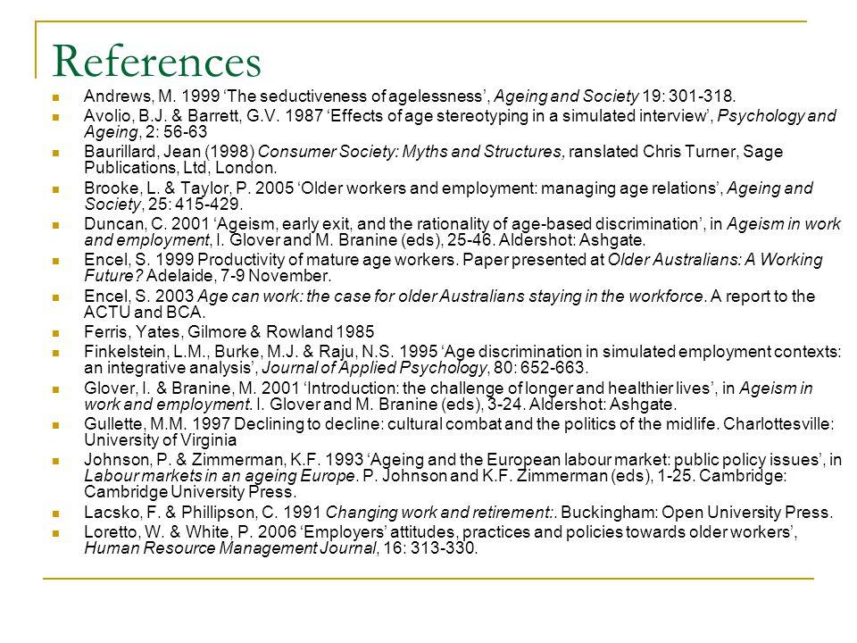 References McGoldrick, A.E.& Arrowsmith, J.