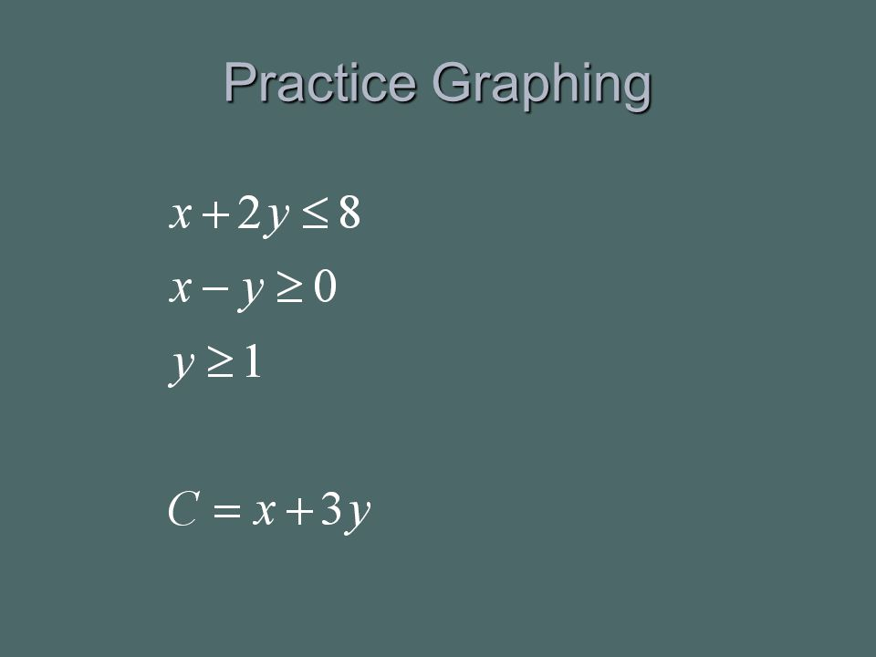 Practice Graphing