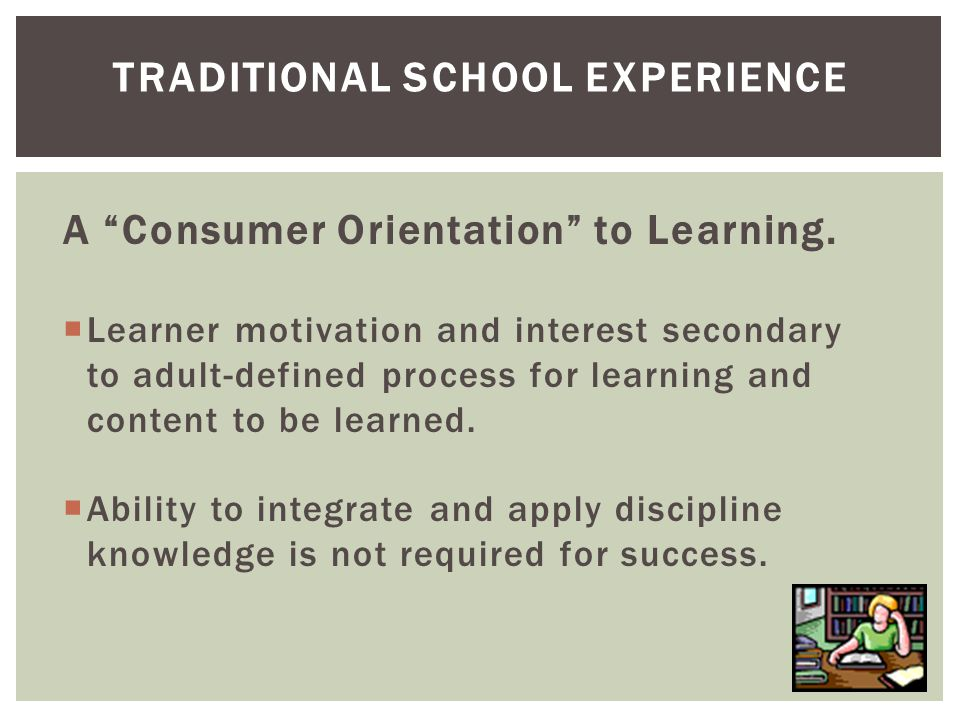 A Consumer Orientation to Learning.