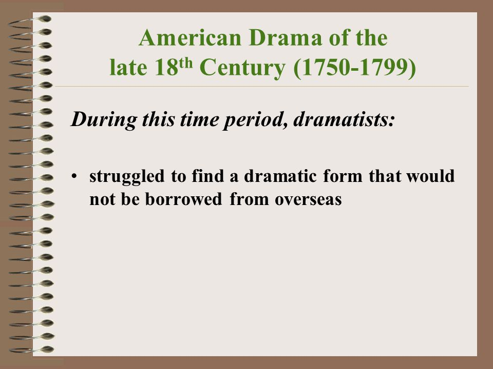 American Drama Farce, Melodrama, and other Trends. - ppt download