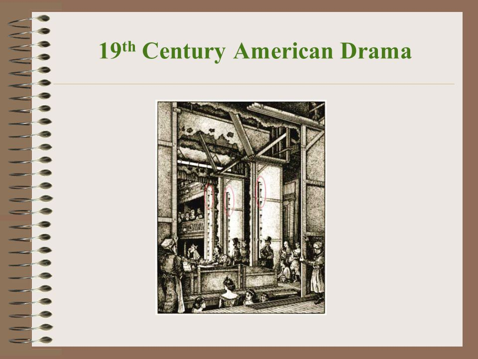 19 th Century American Drama 19 th century melodramas featured: Well-defined heroes, heroines, and villains Explicitly sentimental and very emotional plots, usually with clear-cut (although not necessarily happy) endings.