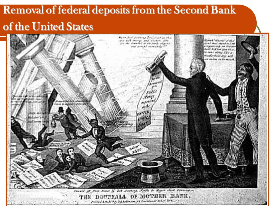 Removal of federal deposits from the Second Bank of the United States