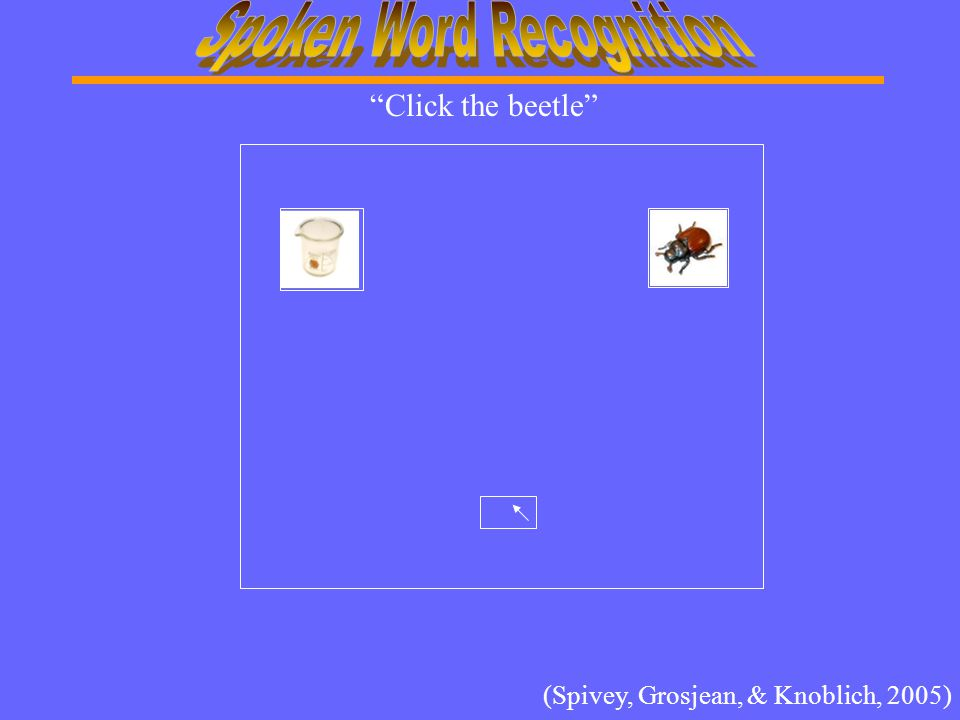 """Click the beetle"" (Spivey, Grosjean, & Knoblich, 2005)"