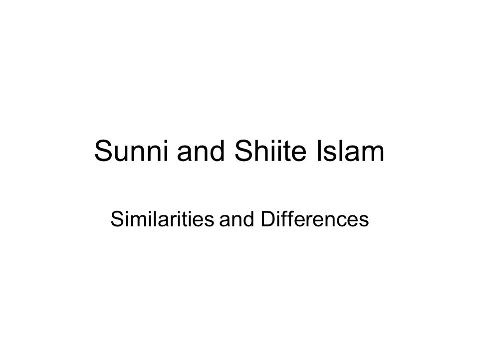 Opening Question and Focus What do you know about Shiite Islam and Shiites.