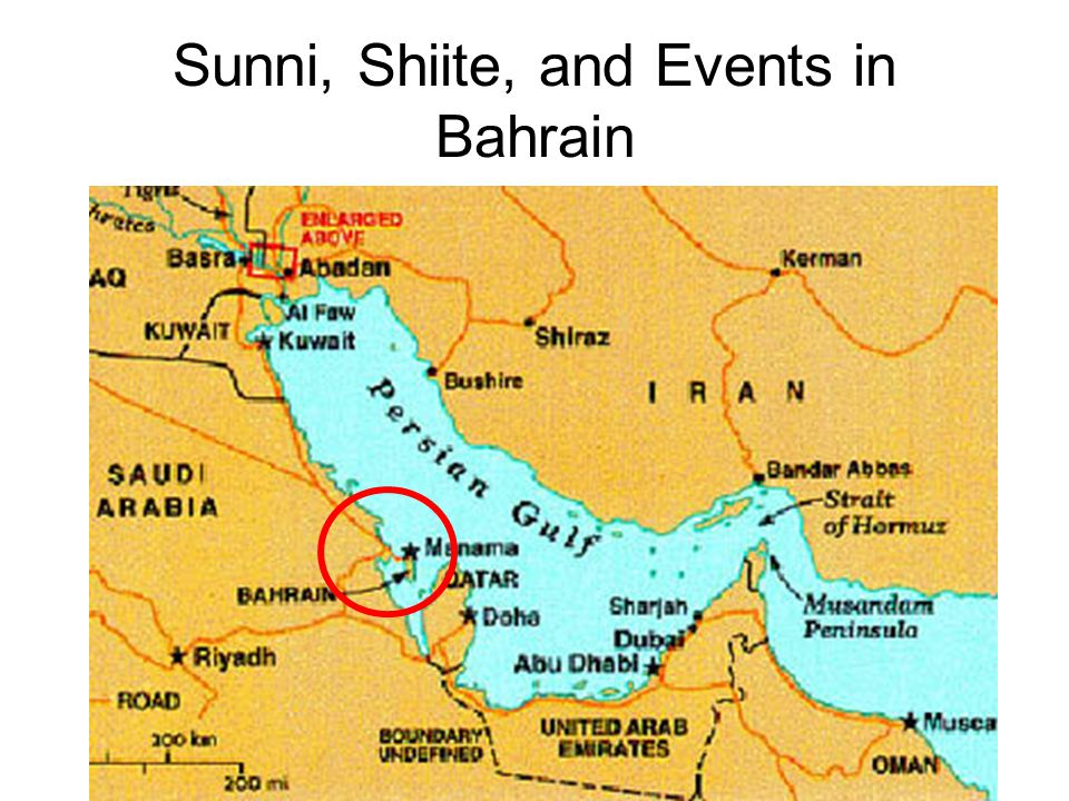 Sunni, Shiite, and Events in Bahrain