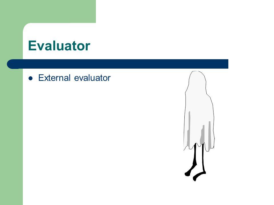 Evaluator External evaluator