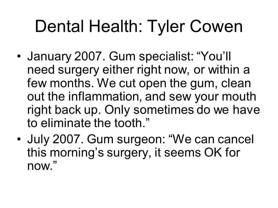 Dental Health: Tyler Cowen January 2007.