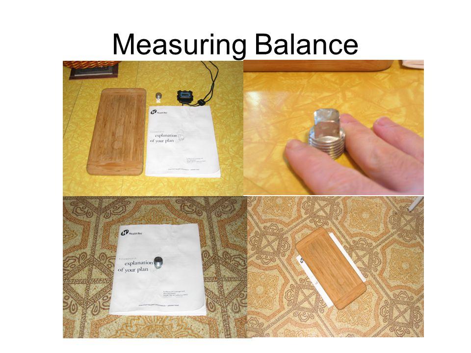 Measuring Balance