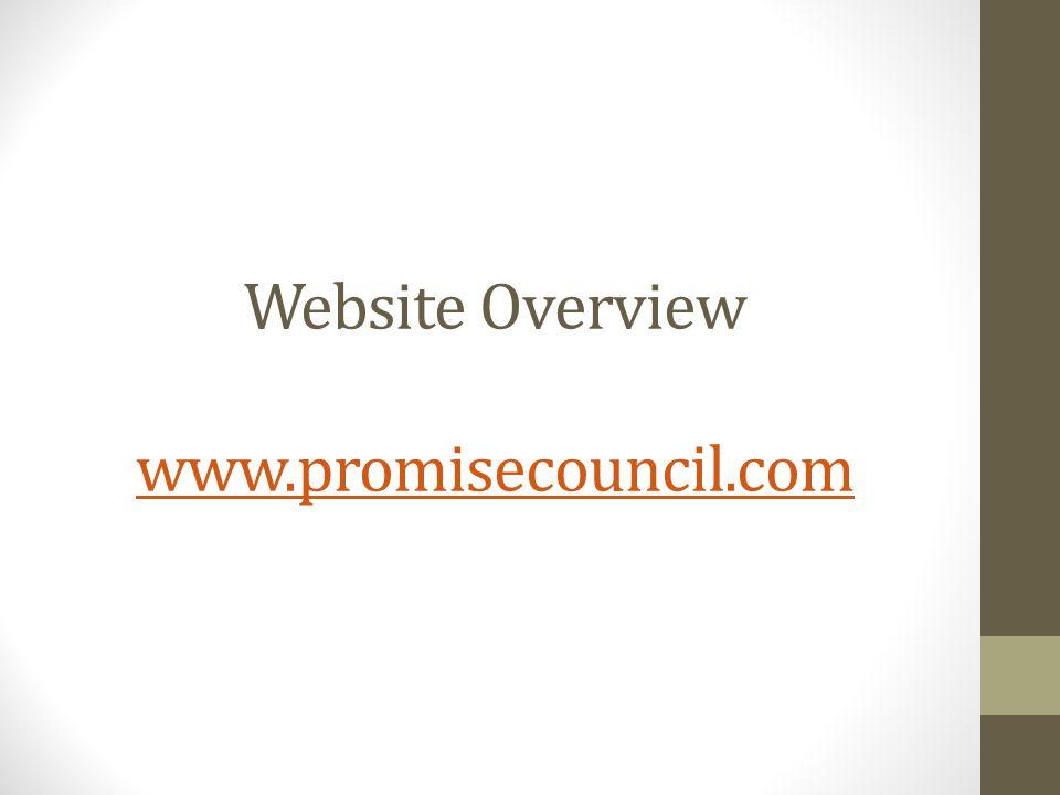 Website Overview www.promisecouncil.com