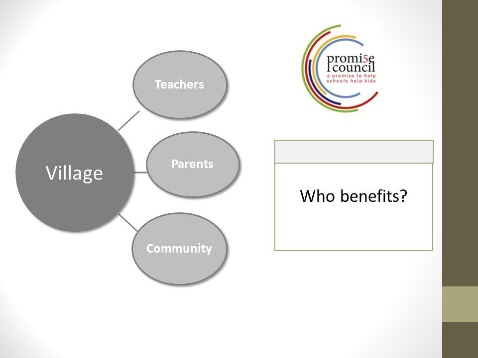 Village Teachers Parents Community Who benefits?
