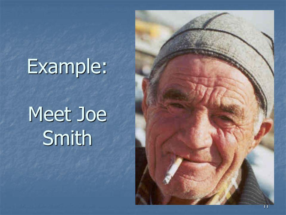 11 Example: Meet Joe Smith