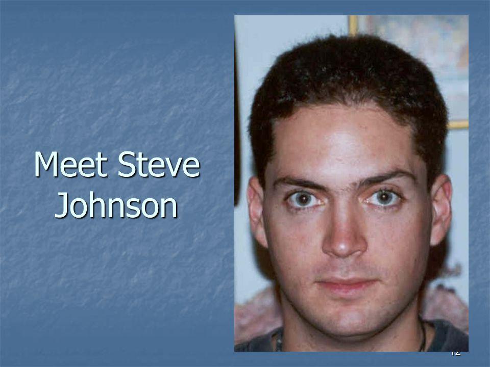 12 Meet Steve Johnson