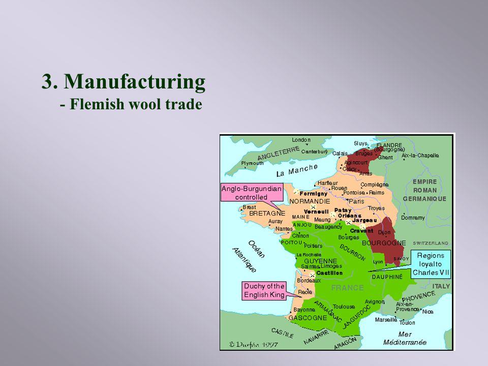 3. Manufacturing - Flemish wool trade