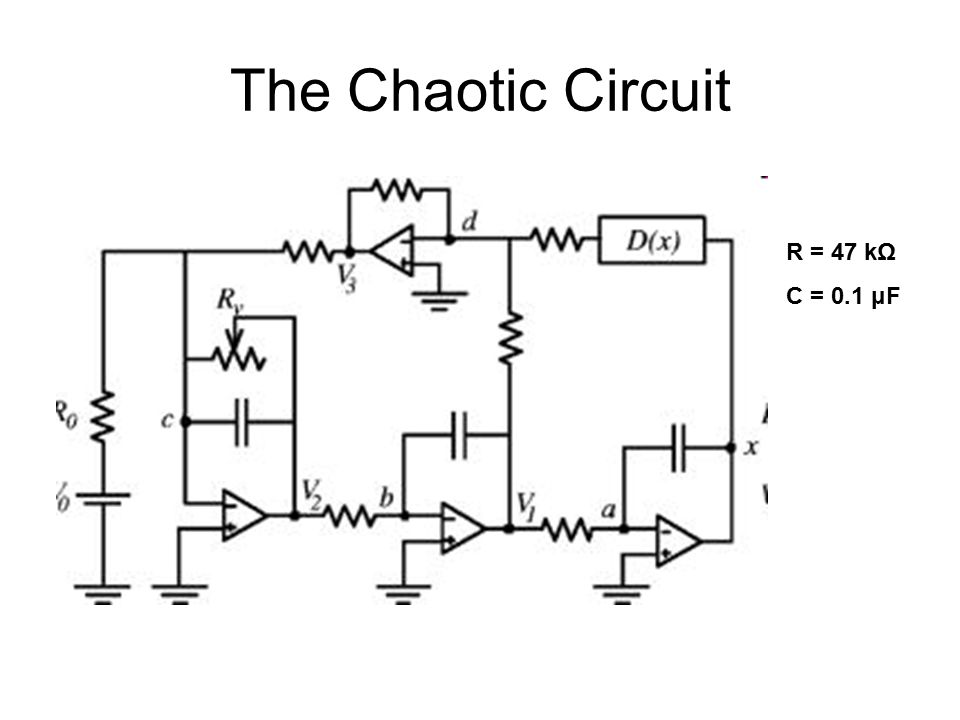 The Chaotic Circuit R = 47 kΩ C = 0.1 μF