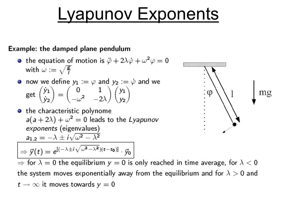 ‹ Lyapunov Exponents