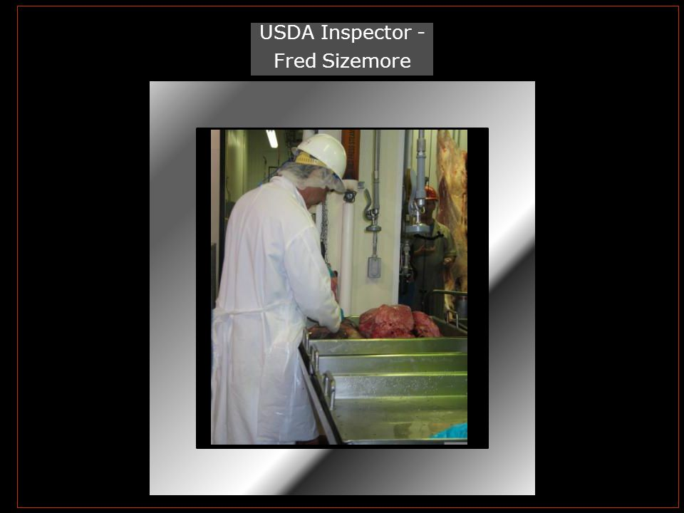 USDA Inspector - Fred Sizemore