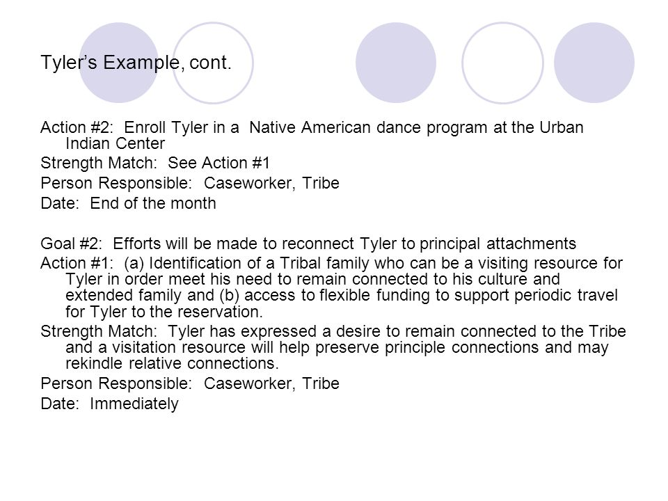 Tyler's Example, cont.