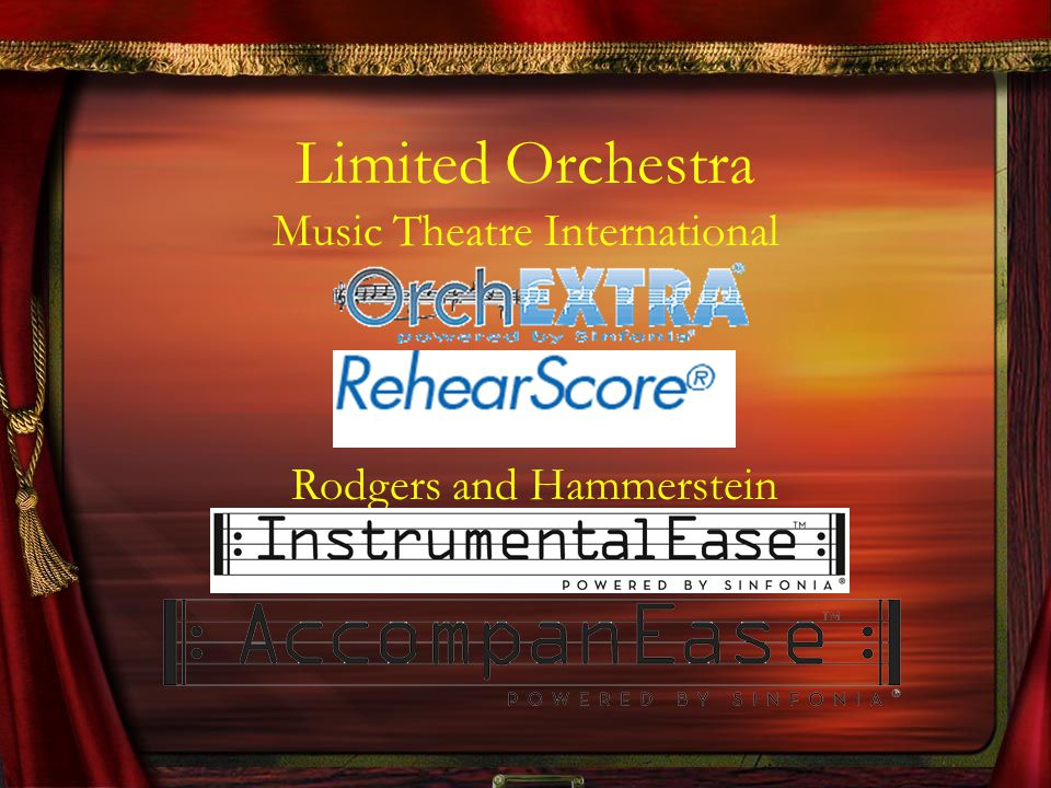 Limited Orchestra Music Theatre International Rodgers and Hammerstein