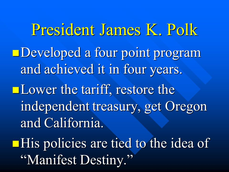 Developed a four point program and achieved it in four years. Developed a four point program and achieved it in four years. Lower the tariff, restore