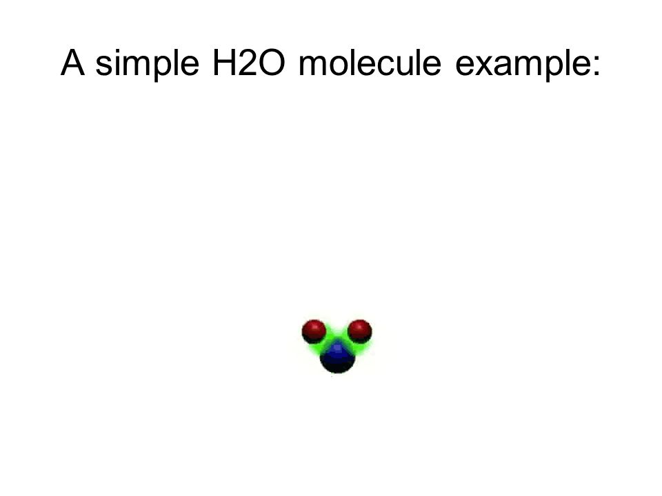 A simple H2O molecule example: