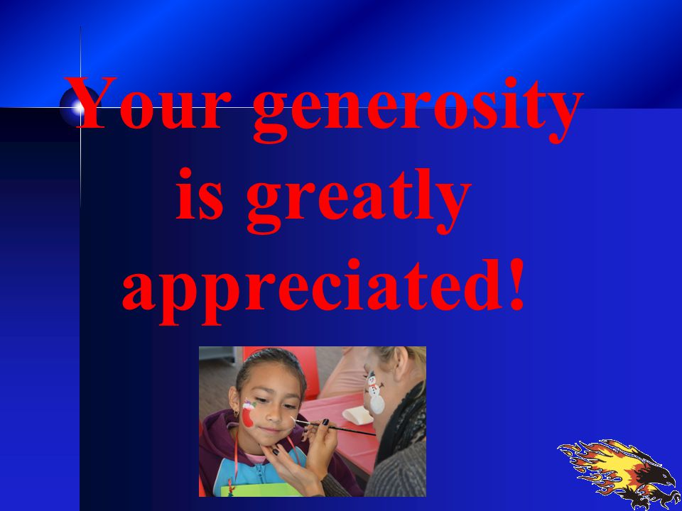 Your generosity is greatly appreciated!