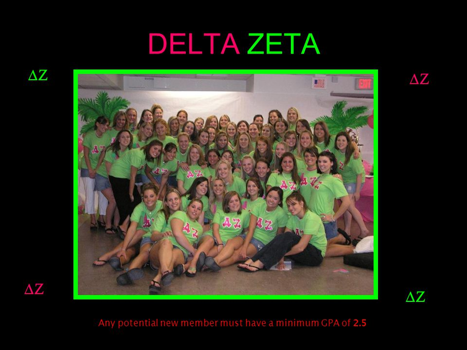 ALPHA SIGMA TAU  Any potential new member must have a minimum GPA of 2.3