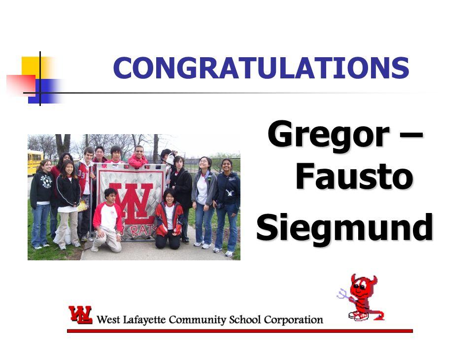 CONGRATULATIONS Gregor – Fausto Siegmund