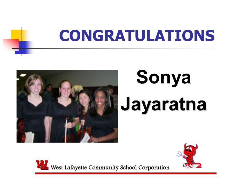 CONGRATULATIONS SonyaJayaratna