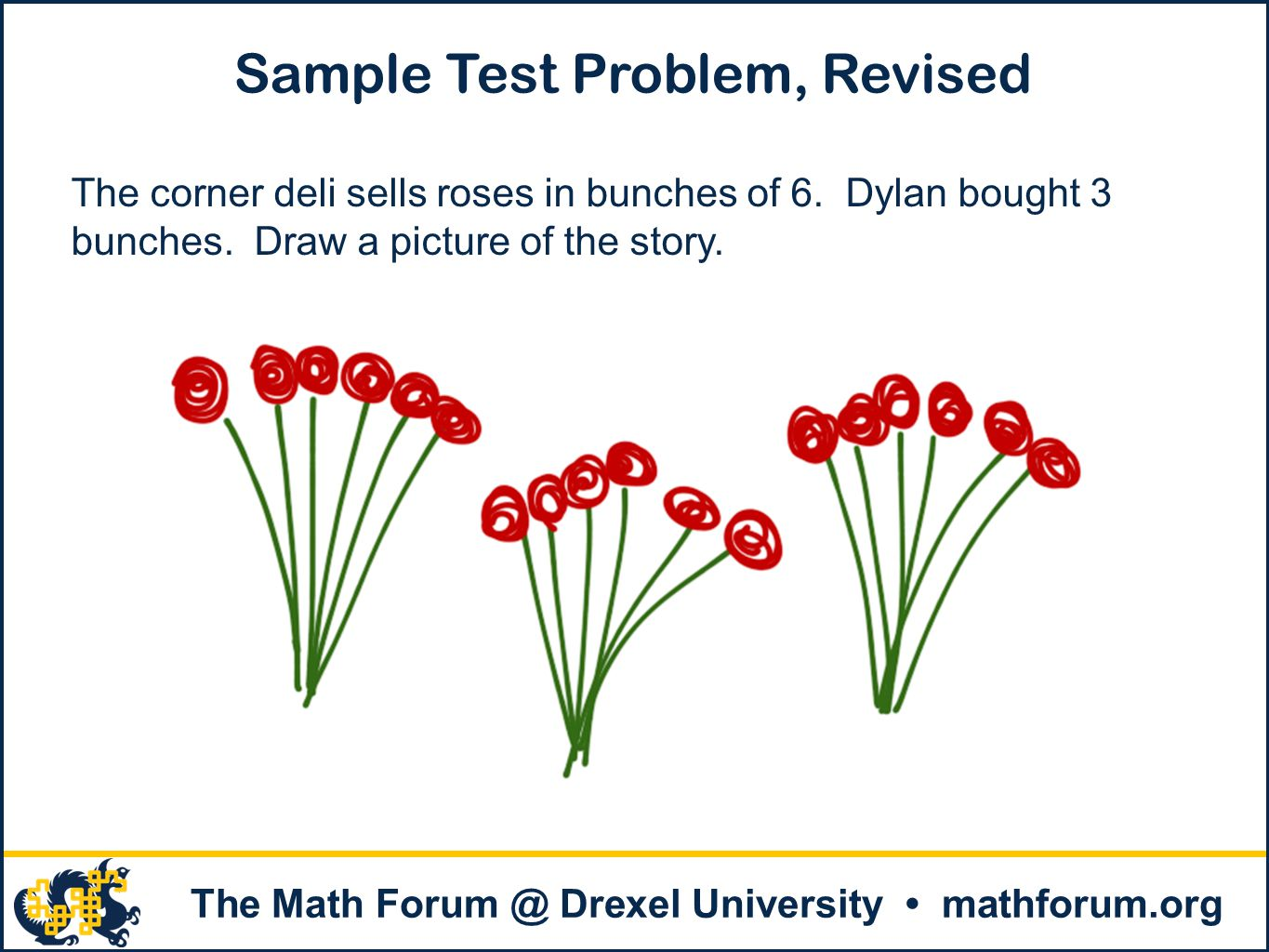 The Math Forum @ Drexel University mathforum.org Sample Grade 3 State Test Problem 2 A nickel is worth 5 cents.