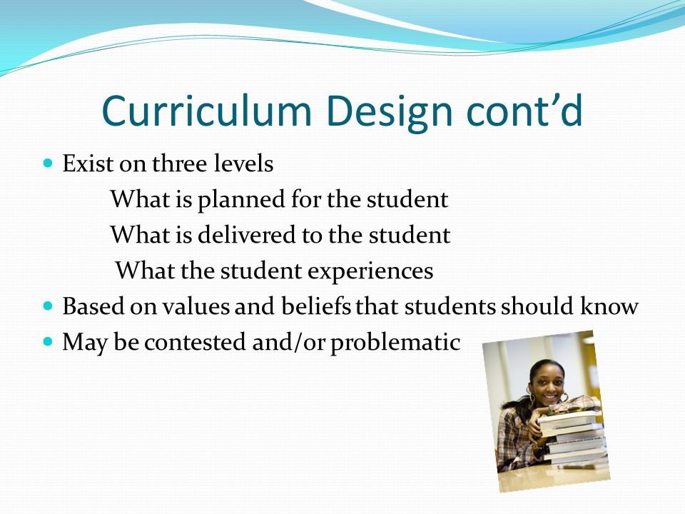 Implications for Nursing Curriculum Behavioral objectives no longer the gold standard another prescriptive model has emerged since 1980s, outcomes based education Outcome based education focus on student behavior instead of staff, defines outcomes obtained by student Program designers include statements of intent as broad curriculum aims and specific objectives (Prideaux, 2003)
