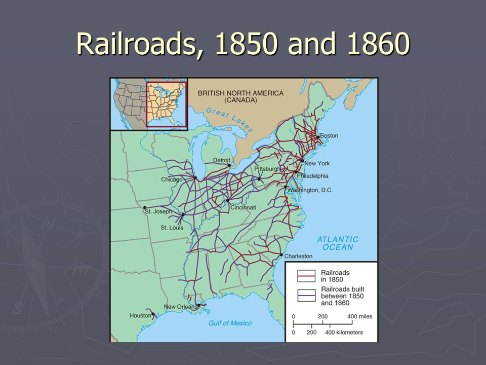 Railroads, 1850 and 1860