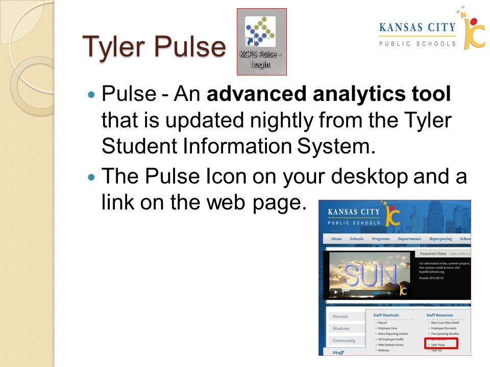 Tyler Pulse—a tool that brings data to life and empowers you to advance student achievement.