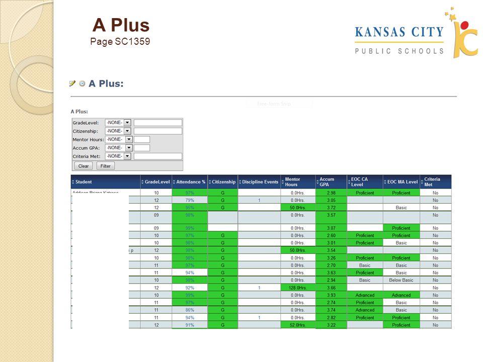 A Plus Page SC1359