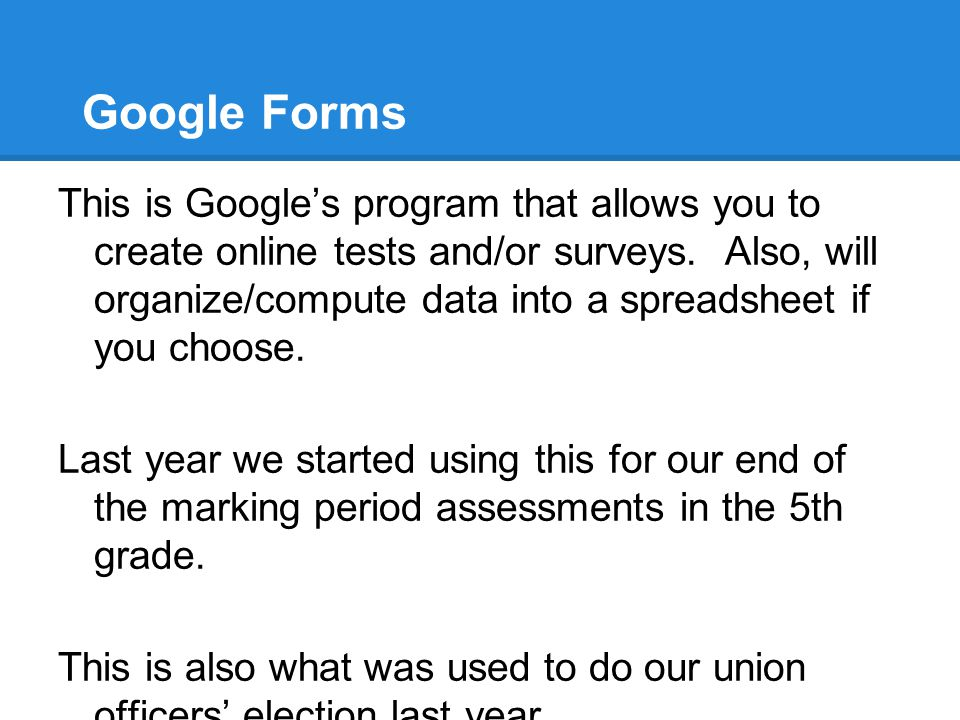 Google Forms Go to the link below to fill in a quick survey.