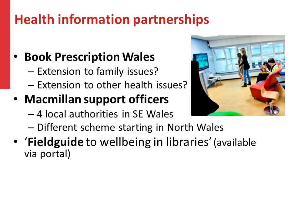 Health information partnerships Book Prescription Wales – Extension to family issues.