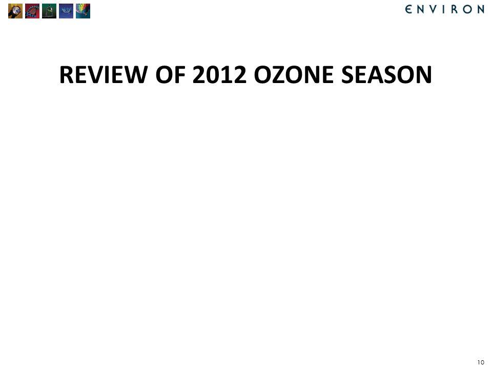 REVIEW OF 2012 OZONE SEASON 10